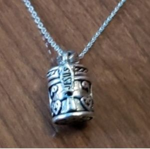 Jewelry - Vintage sterling silver prayer box and necklace